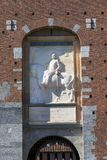Château du 15ème siècle Castello Sforzesco, Milan, Italie de Sforza images stock