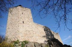 Château Du Bernstein / Bernstein Castle. Bernstein castle (locally known as Château du Bernstein) is a ruined castle above the village of Dambach-la-Ville Stock Photos