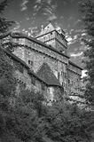 The château du Haut-Kœnigsbourg. (German: Hohkönigsburg) is a medieval castle located at Orschwiller, Alsace, France, in the Vosges mountains just west of S Royalty Free Stock Photos