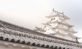 Château du Japon Himeji, château blanc de héron dans le beau che de Sakura Photographie stock libre de droits