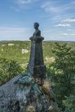 Château du Lichtenstein - buste et statue en parc photo libre de droits