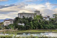 Château du roi, construit dans les Moyens Âges jeune, la Cantabrie, N image libre de droits