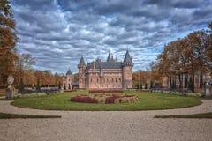 Château en automne photographie stock