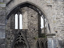 Château en pierre avec des voûtes en Irlande Images libres de droits