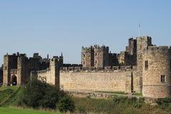 Château en pierre d'Alnwick Photos stock