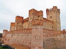 Château en pierre médiéval sur l'Espagne photos stock