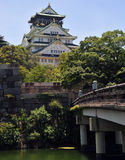 Château et fossé d'Osaka Photos stock
