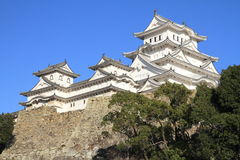Château et fossé de Himeji à Himeji, Hyogo Images libres de droits