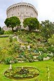 Château et jardin de Windsor Images libres de droits