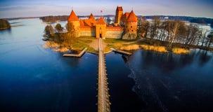 Château et lac Photos stock