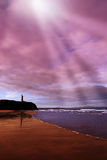 Château et ondes de plage de Ballybunion Photos libres de droits