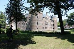 Château et ses environs aux Pays-Bas Photo stock
