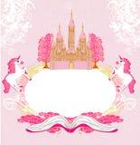 Château féerique apparaissant du livre Images libres de droits