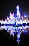 Château féerique pendant la nuit du ¼ ŒBeijing, Chine de parkï d'amusement de Shijingshan Photo stock