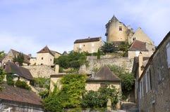 Château féodal de Castelnaud Photo libre de droits