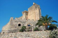 château federician de capo Spulico de Roseto en Calabre, Italie image stock