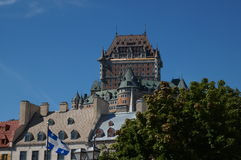 Château Frontenac, Cidade de Quebec, Canadá fotografia de stock