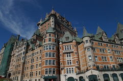 Château Frontenac, Cidade de Quebec, Canadá imagem de stock royalty free