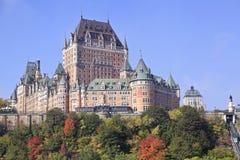 Château Frontenac en automne, Québec, Canada images libres de droits