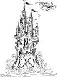 Château gothique du conte de fées II Photos stock