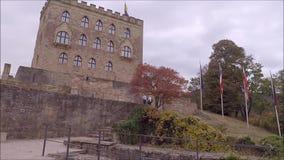 Château Hambacher Schloss de Hambach banque de vidéos