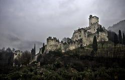 Château HDR d'Avio de Trentino Sabbionara Photographie stock libre de droits