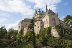 Château historique Bojnice dans la République slovaque Photos libres de droits