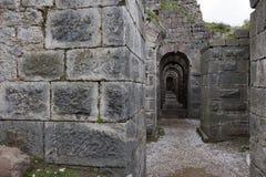 Château historique d'Acropole de ville de Pergamon Acient photo stock