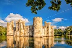 Château historique de Bodiam dans le Sussex est, Angleterre Image libre de droits