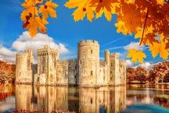 Château historique de Bodiam dans le Sussex est, Angleterre images libres de droits