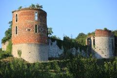 Château historique Hierges dans des Frances du nord photos stock