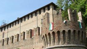 Château historique Sanvitale dans la ville de Fontanellato, Parme, Italie clips vidéos