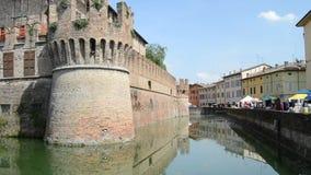 Château historique Sanvitale dans la ville de Fontanellato, Parme, Italie banque de vidéos