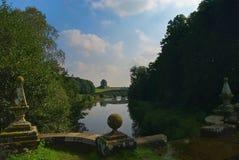 Château Howard Yorkshire de lac Photographie stock