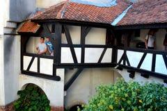 Château intérieur de son, maison de Dracula, Brasov, la Transylvanie image libre de droits