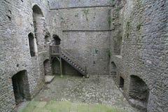 Château intérieur de Weobley Image libre de droits