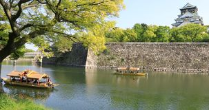 Château Japon d'Osaka photos stock