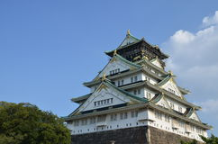 Château Japon d'Osaka Photos libres de droits