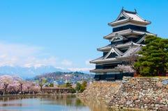 Château Japon de Mutsumoto Image stock