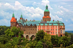 Château Ksiaz dans Walbrzych, Pologne Photos libres de droits
