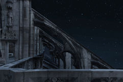 château la nuit Image stock