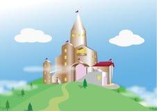 Château le matin brumeux illustration stock