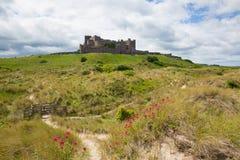 Château le Northumberland Angleterre est du nord R-U de Bamburgh images libres de droits