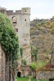 Château le Rhin dans Sankt Goar, Allemagne photos libres de droits