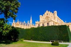 Château Lednice dans le Tchèque photographie stock