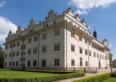 Château Litomysl dans la République Tchèque images stock