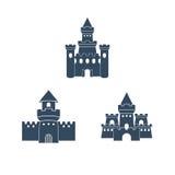 Château Logo Template Images libres de droits
