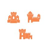 Château Logo Template Images stock