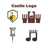 Château Logo Template Illustration Stock