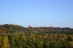 Château loin parmi les arbres Photo libre de droits